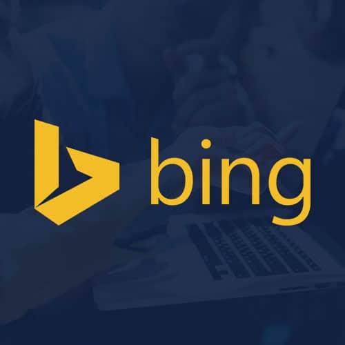Bing Ads logo on a navy background