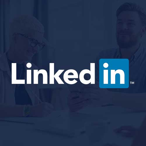 LinkedIn Ads logo on a navy background