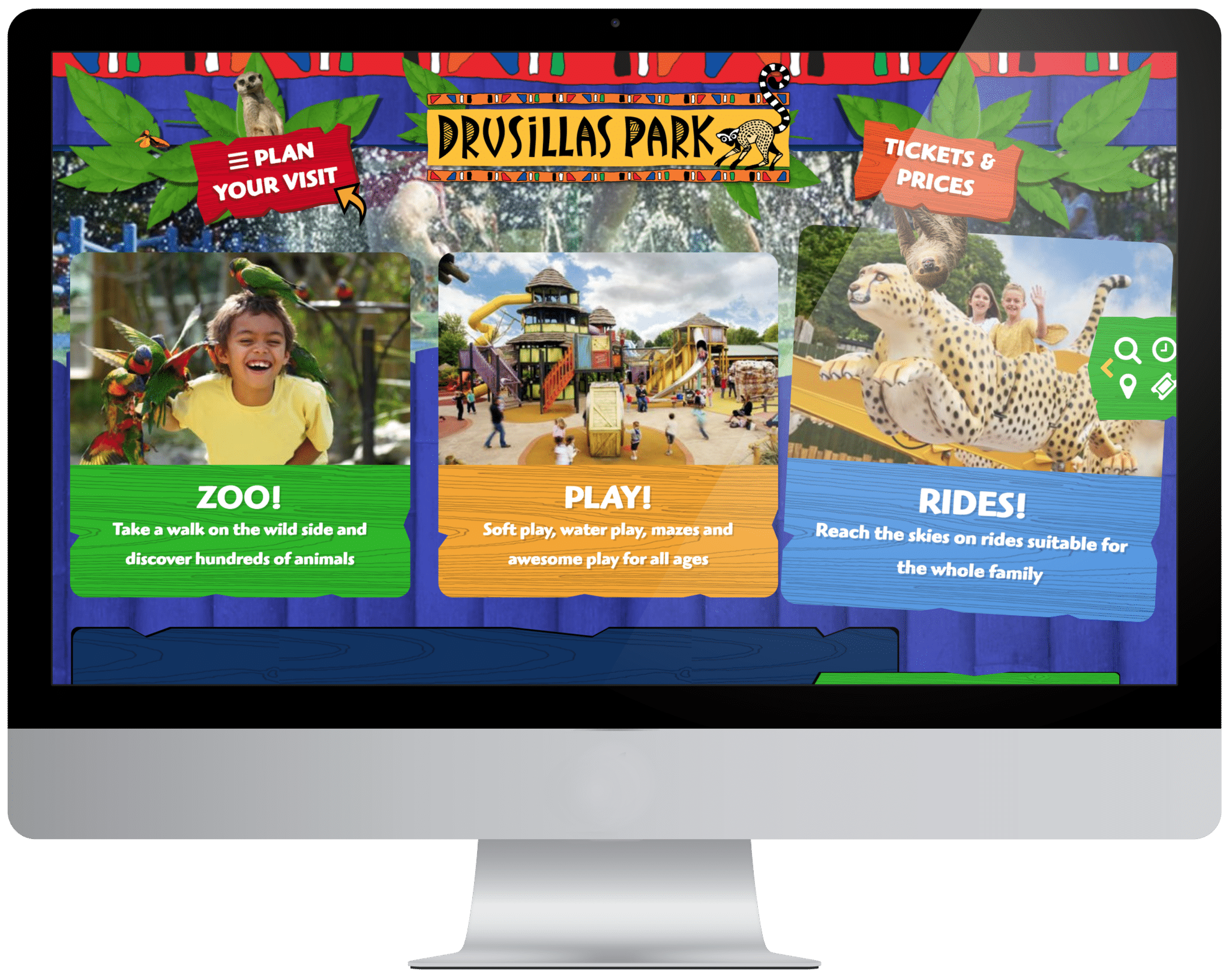 Desktop with PPC theme park and zoo case study