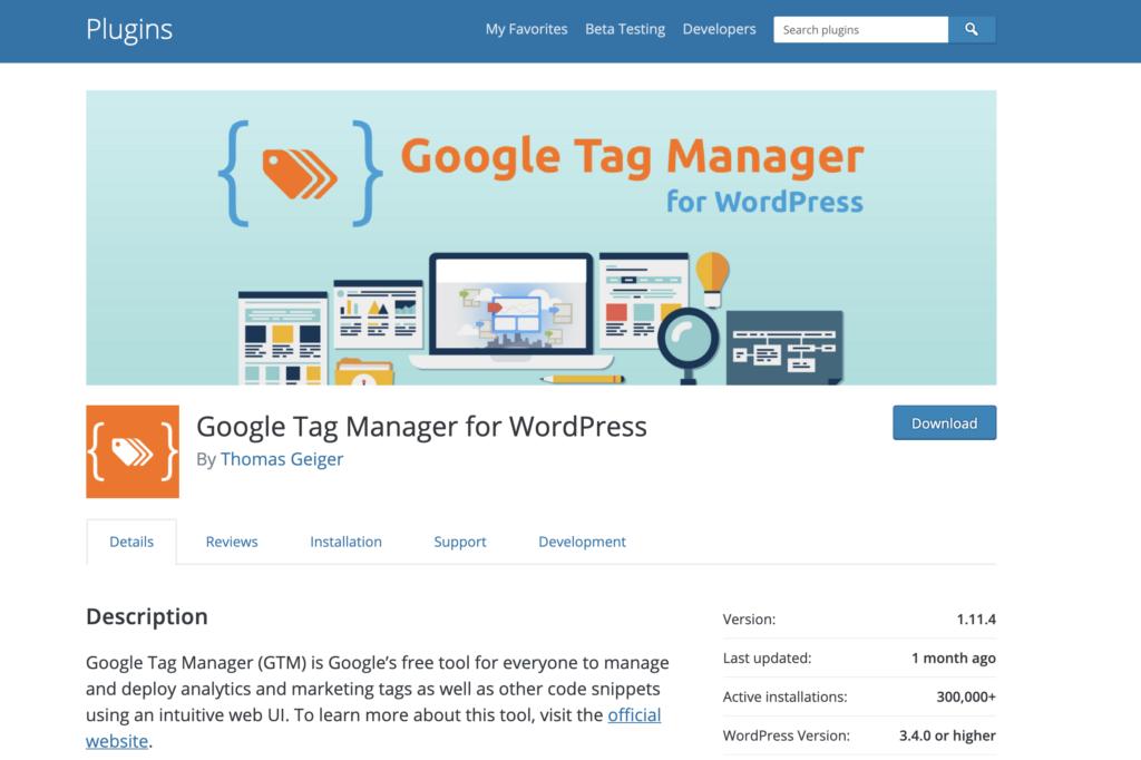 Install GTM WordPress With Plugin By Thomas Geiger