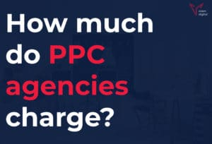 how much do ppc agencies charge? featured image and text