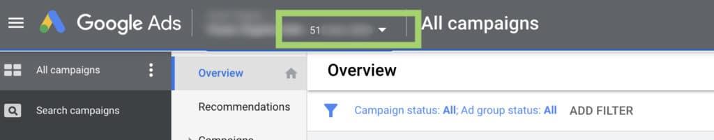 how to find google ads CID